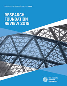 Book cover for the Research Foundation Review 2018