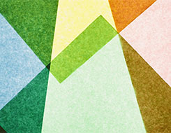 tiled colored triangular shapes